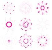 Positionnement d'éléments floral et ornemental illustration de vecteur