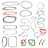 Positionnement d'éléments tiré par la main de conception illustration stock