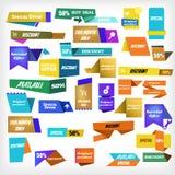 Positionnement d'étiquette Photographie stock libre de droits
