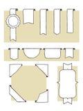 Positionnement d'étiquette illustration de vecteur