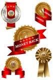 Positionnement d'étiquette arrière d'argent Photographie stock libre de droits