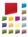 Positionnement d'étiquette coloré illustration de vecteur