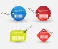 Positionnement d'étiquette de code barres Photographie stock