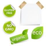 Positionnement d'étiquettes d'Eco Photo stock