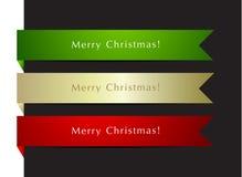 Positionnement d'étiquettes de Noël Images stock