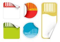 positionnement d'étiquettes frais de couleurs de codes à barres vif Photos stock