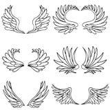 Positionnement d'aile d'ange illustration stock