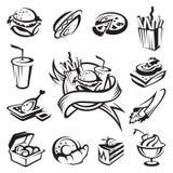 Positionnement d'aliments de préparation rapide Photo libre de droits