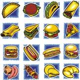Positionnement d'aliments de préparation rapide Photographie stock libre de droits