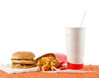 Positionnement d'aliments de préparation rapide Photo stock
