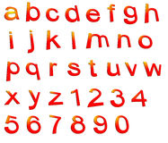 Positionnement d'alphabet Images libres de droits