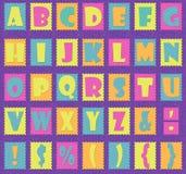 Positionnement d'alphabet Images stock