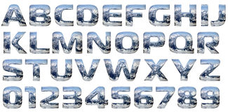 Positionnement d'alphabet de moulage de chrome Image stock