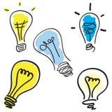 Positionnement d'ampoule illustration stock