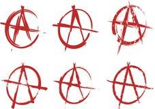 Positionnement d'anarchie Image stock