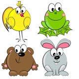 Positionnement d'animal de dessin animé. mammifère Images stock