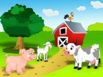 Positionnement d'animal de ferme illustration libre de droits