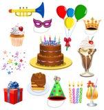 Positionnement d'anniversaire Image libre de droits