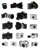 Positionnement d'appareil-photo de photo grand Image stock