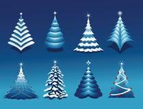 Positionnement d'arbre de Noël Images libres de droits