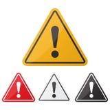 Positionnement d'avertissement de signe d'une attention de risque Signe de danger Point d'exclamation Photographie stock