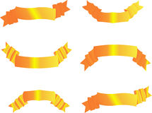 positionnement d'or de drapeau Photographie stock
