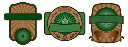 Positionnement d'emblème d'étiquette Photos libres de droits