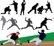 Positionnement d'illustration de base-ball Photographie stock