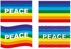 Positionnement d'indicateur de paix illustration de vecteur