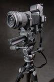 positionnement d'instruction-macro du film SLR de 35mm Photographie stock libre de droits