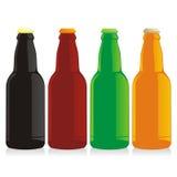 positionnement d'isolement de bouteilles à bière Image stock