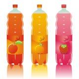 positionnement d'isolement par boissons carbonaté par bouteilles Photographie stock