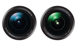 positionnement d'objectif de caméra Image stock