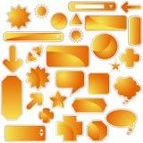 positionnement d'orange d'étiquette Photographie stock