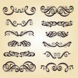 Positionnement d'ornement de calligraphie Image stock
