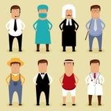 Positionnement d'ouvrier Image libre de droits
