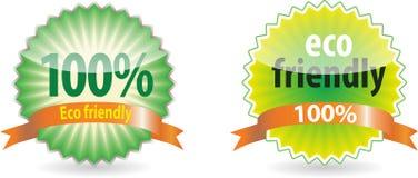 Positionnement d'étiquette amical d'Eco Photographie stock libre de droits