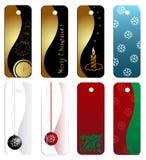 Positionnement d'étiquette de cadeau de Noël Photos stock