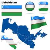 Positionnement d'Uzbekistan. Photographie stock