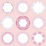 positionnement de 9 étiquettes féminin illustration stock