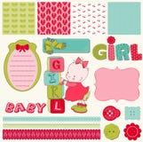 Positionnement de bébé d'album Images stock