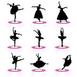 Positionnement de ballet illustration libre de droits