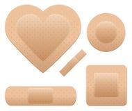 Positionnement de bandage Images libres de droits