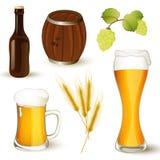 Positionnement de bière Photos stock