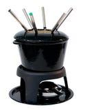 Positionnement de bol de fondue Photographie stock libre de droits