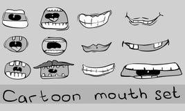 Positionnement de bouche de dessin animé Illustration de Vecteur