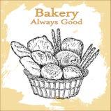 Positionnement de boulangerie Images stock