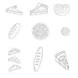 Positionnement de boulangerie illustration stock