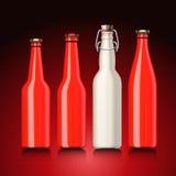 Positionnement de bouteille à bière sans l'étiquette Images libres de droits