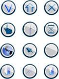 positionnement de bouton illustration stock